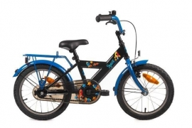 BIKE FUN KIDS SPACE 16 INCH ZWART/BLAUW