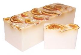 Handgemaakte design zeep ` Sunshine citrus` 1,3 kilo