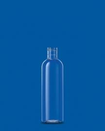 200 ml PET fles + klepdop (Glanzend zwart)