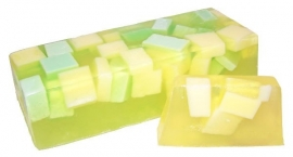 Handgemaakte design zeep ` Sunny Melon` 1,3 kilo