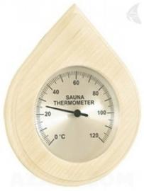 Sauna Thermometer druppel vorm met beschermglas