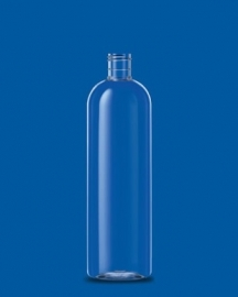 500 ml PET fles  + klepdop (Glanzend zwart)