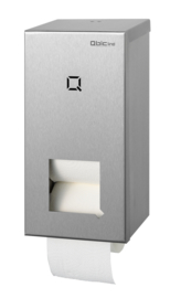 Qbic RVS houder voor 2 coreless toiletrollen