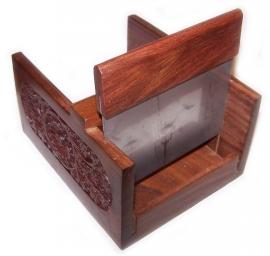 Zeepsnijder luxe hout (NIET VOOR DE LOOFAH ZEEP)