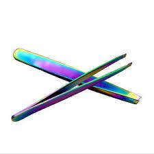 Tweezer regenboog pincet schuin