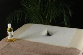 Doos 10 x 100 P. Zak - Hoofdsteuncovers met gezichtsuitsparing losse vellen voor op de bank ( 40 x 32 cm )