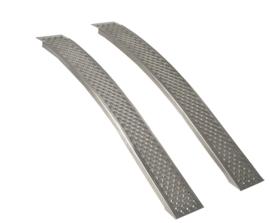 Oprijplaten voor Zitmaaier 150 cm - 400 kg Aluminium Gebogen