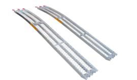 Oprijplaten voor Zitmaaier 226 cm - 680 kg Aluminium Gebogen
