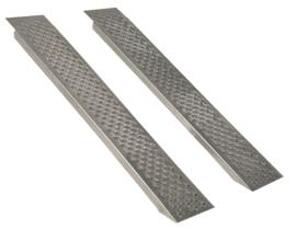 Oprijplaten voor Zitmaaier 200 cm - 400 kg Aluminium