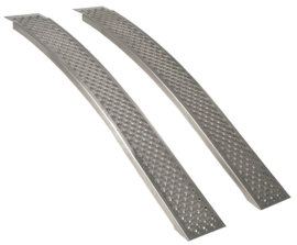 Oprijplaten voor Zitmaaier 200 cm - 400 kg Aluminium Gebogen
