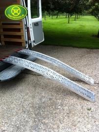 Oprijplaten voor Zitmaaier 600 kg draagvermogen, Opvouwbaar 225 cm