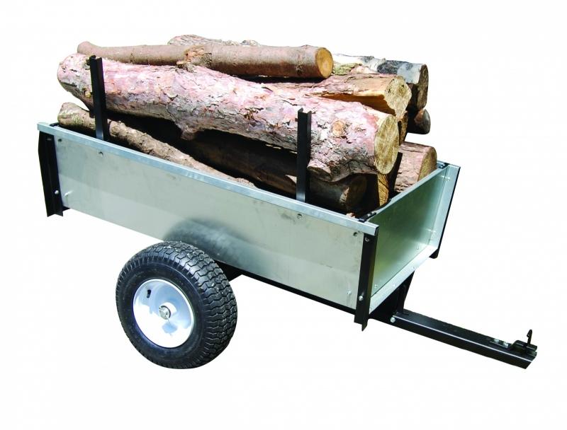 Aanhangwagen voor Zitmaaier 450 kg laadvermogen Verzinkt