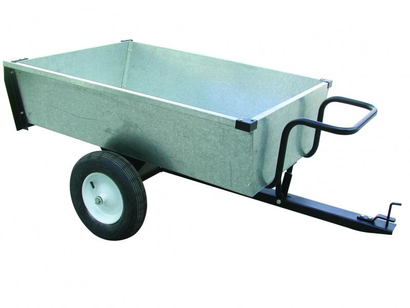 Aanhangwagen voor Zitmaaier 320 kg laadvermogen Verzinkt