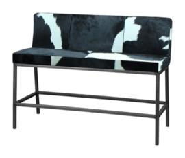 Vasco bank 130cm, in diverse soorten koeienhuid leverbaar