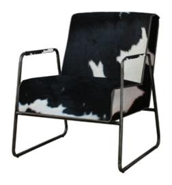 Santo fauteuil in diverse soorten koeienhuid