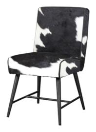 Belmonte stoel, zwartwit koeienhuid
