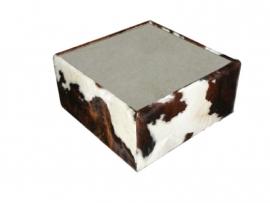 Kubus salontafel in tricolor met keramisch blad, 93x93x40cm