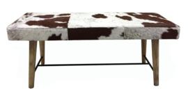 AS1260T - bank met bruin en wit koeienhuid