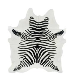 Zebra koeienhuid op witte huid