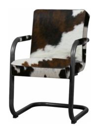 Volano armstoel, tricolor koeienhuid