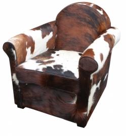 Emma fauteuil in tricolor koeienhuid