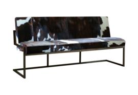 Ferro bank , in diverse soorten koeienhuid, 185x65x87cm