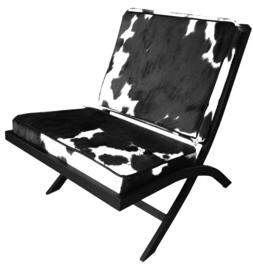 EL Barcelona fauteuil in tricolor koeienhuid