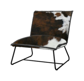 Vilar fauteuil in tricolor koeienhuid