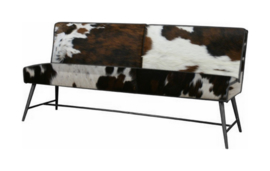 Belmonte eetbank  185cm, in diverse soorten koeienhuid