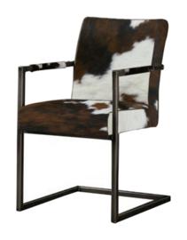 Vincent vintage stoel in tricolor koeienhuid