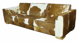 Betsy 3-zitsbank , bruin koeienhuid, 240cm