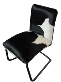 Stoel Pinto, in zwart met wit  koeienhuid