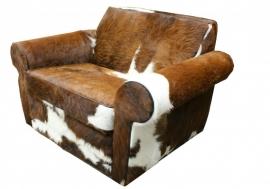 Rover fauteuil in bruine koehuid
