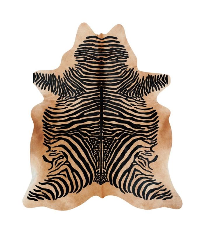 Zebra koeienhuid op  creme huiden
