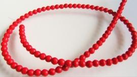 Howliet kraal rood hoekig rond 4 mm