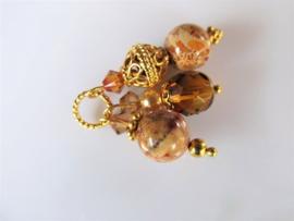 """Hanger """"Golden Fossil Glass Trio"""""""