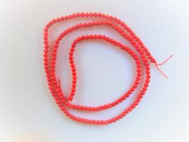 Bloedkoraal rood ronde kraal 2.4-2.5 mm