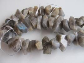 Labradoriet free-shape kraal 8-12x15-20 mm