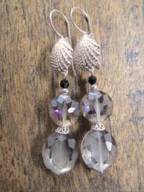 "Oorbellen ""Seashell Crystal"""