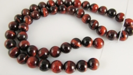 Rode tijgeroog kraal rond 8.2-8.5 mm A-kwaliteit