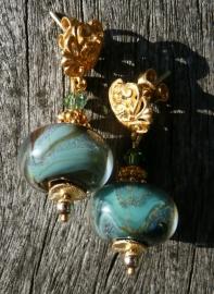 """Oorbellen """"Gold  Boro Glass"""""""