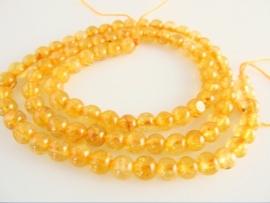 Rutielkwarts donker goud ronde kraal 4.5-5 mm