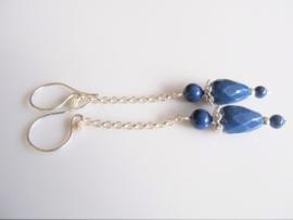 """Oorbellen """"Blue Chain"""""""