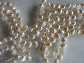 Witte nugget parel kraal 5-6 mm
