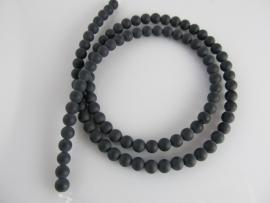 Onyx kraal mat rond 4 mm