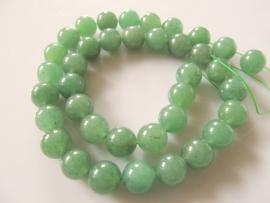 Jade groene kraal rond 10.5-10.8 mm