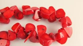 Koraal druppel rode kraal 14-15 mm