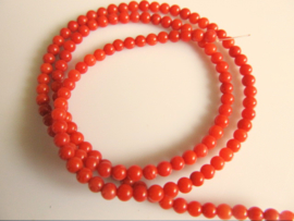Bloedkoraal kraal rood 3.2-3.5 mm