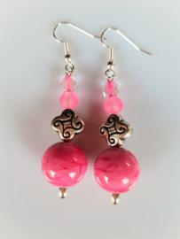 """Oorbellen """"Easy Pink"""""""