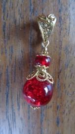 """Hanger """"Golden Crackle Red"""""""